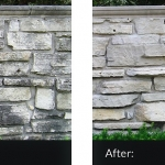 limestone wall%2C before and after